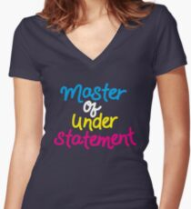 Master Of Understatement -Colors Women's Fitted V-Neck T-Shirt