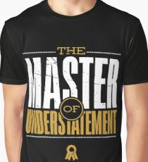 Master Of Understatement -Gold Graphic T-Shirt
