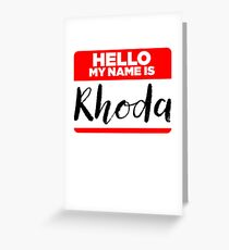 My Name Is... Rhoda - Introduction Hipster Sticker Tag Greeting Card
