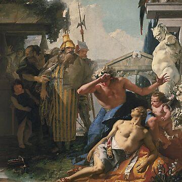 The Death of Hyacinthus-Giovanni Battista Tiepolo by LexBauer