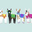 Cute Peruvian Llamas by TeaToucan
