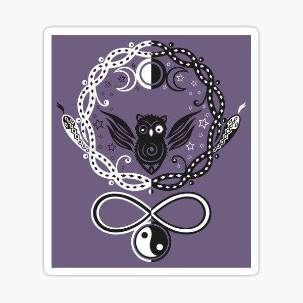Symbole für die Mondgöttin Hekate Sticker