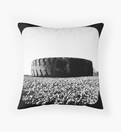 Outback Tyres Throw Pillow