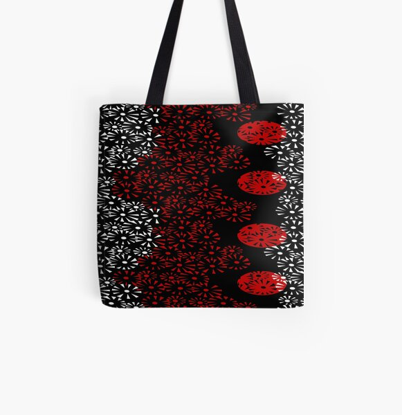 Fireworks over water All Over Print Tote Bag