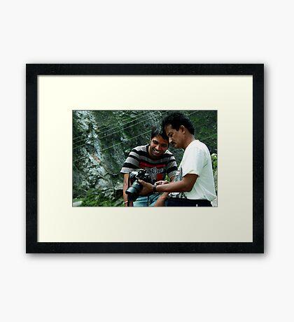 Mukesh & Umesh Framed Print