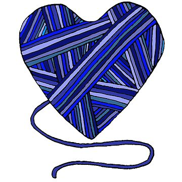navy knitted heart by Whatsapooka
