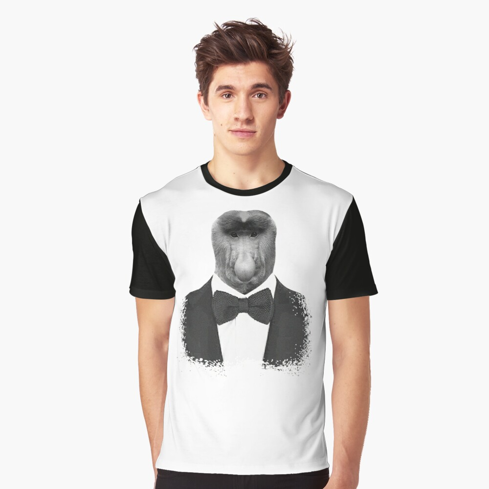 Proboscis Monkey Graphic T-Shirt Front
