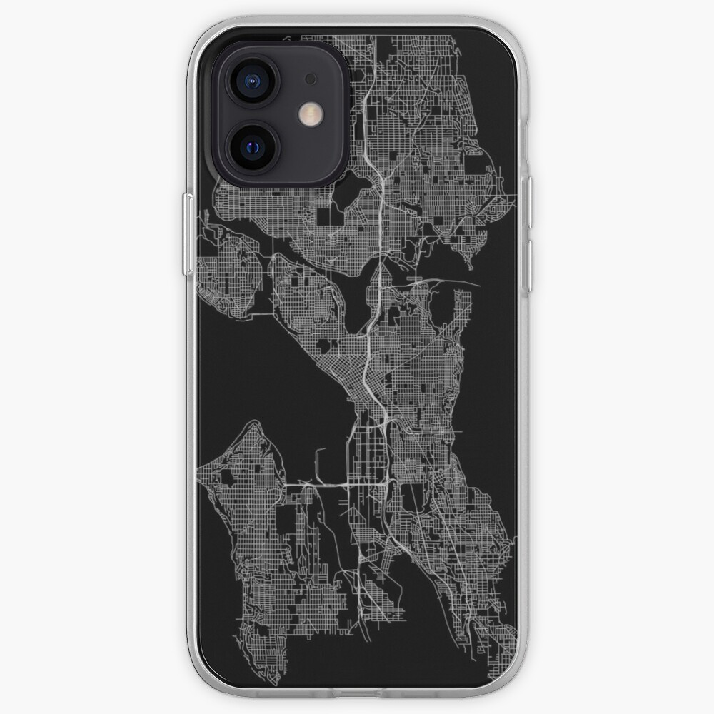 Seattle, Washington, USA Street Network Map Graphic iPhone Case & Cover