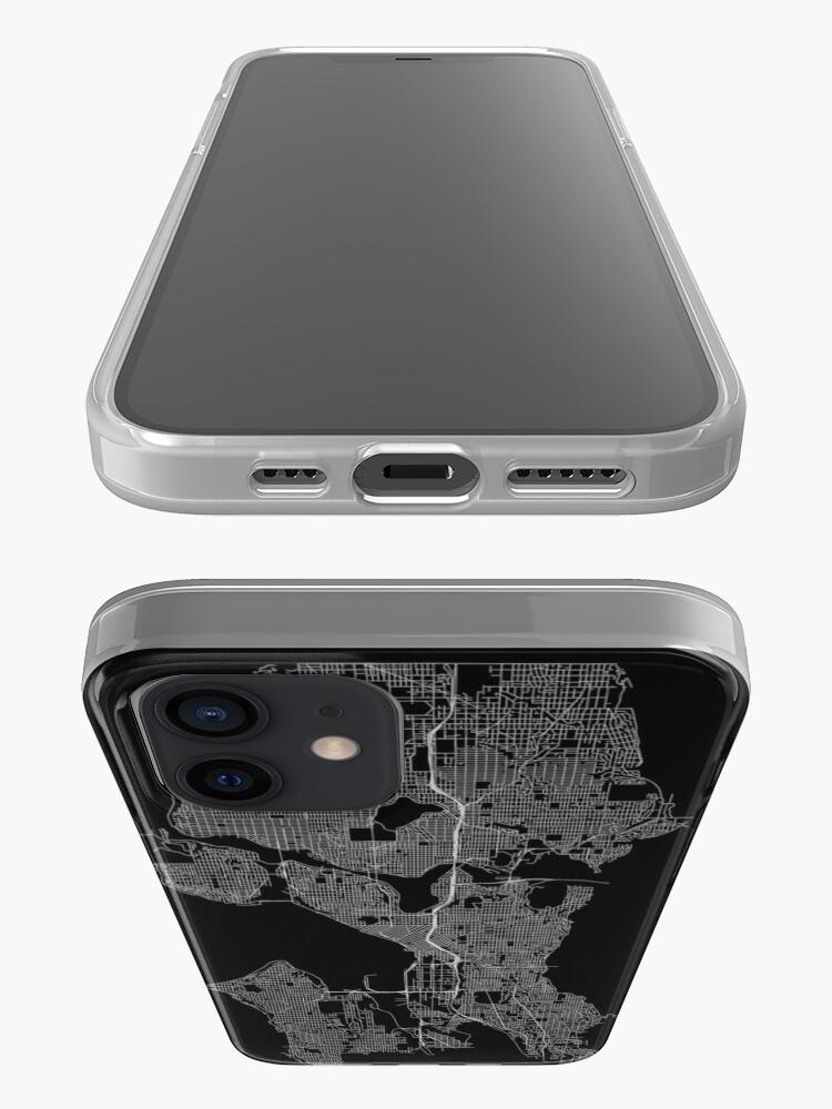 Alternate view of Seattle, Washington, USA Street Network Map Graphic iPhone Case & Cover
