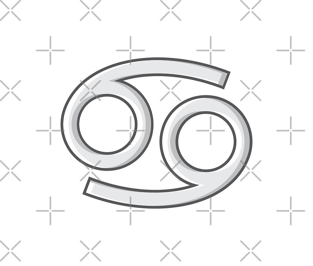 Cancer Zodiac Symbol - Gray by MizRosah