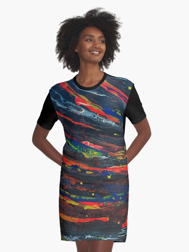 Galaxy 2020  Graphic T-Shirt Dress Front