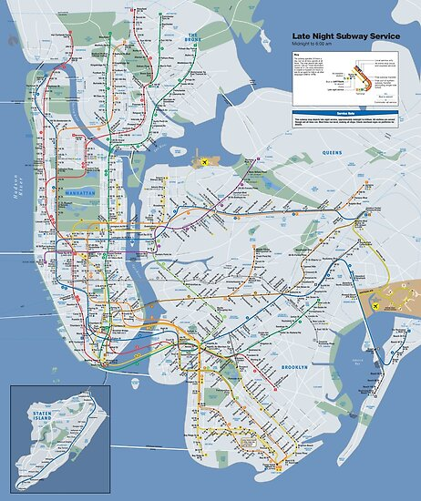 New York City - Late Night Subway Map - HD by superfunky