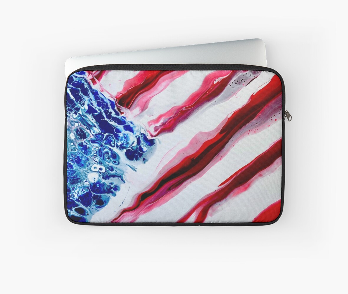 American Distressed USA Flag  by robfullerartist