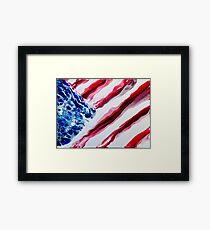 American Distressed USA Flag  Framed Print