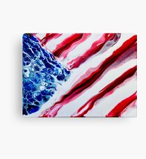 American Distressed USA Flag  Canvas Print
