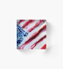 American Distressed USA Flag  Acrylic Block