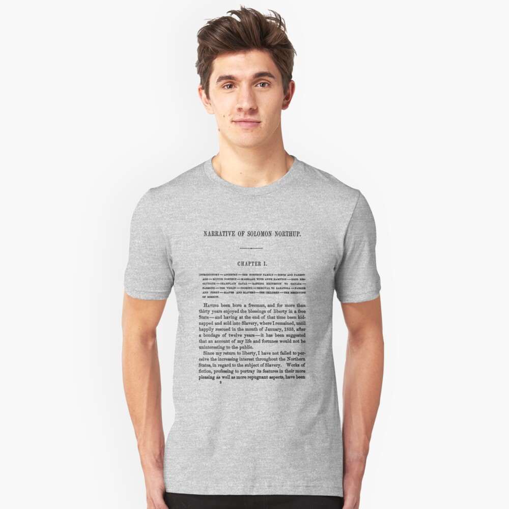 Twelve Years A Slave Solomon Northup Page One Unisex T-Shirt Front