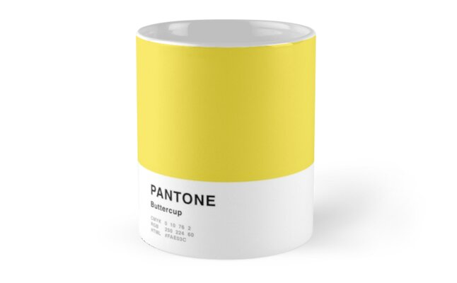 Buttercup Yellow Pantone Simple Design by MightyOwlDesign