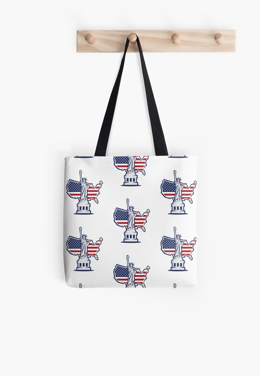 Statue of Liberty New York City USA Flag Souvenir by Peter Knoll