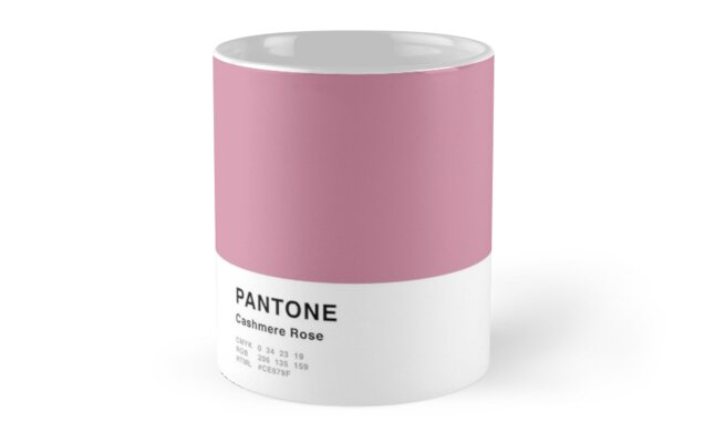 Cashmere Rose Pink Pantone Simple Design by MightyOwlDesign