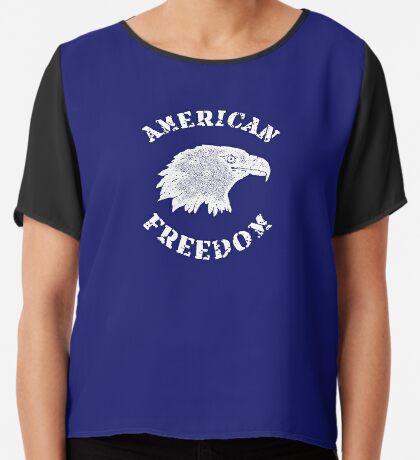American Freedom Bald Eagle Chiffon Top