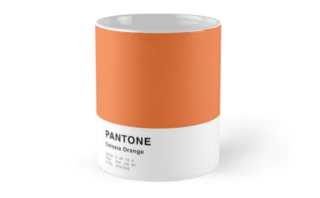 Celosia Orange Pantone Simple Design by MightyOwlDesign