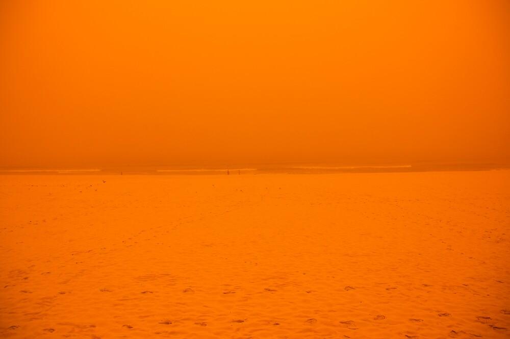 Sydney Dust Storm: Orange Split by Milton Gan