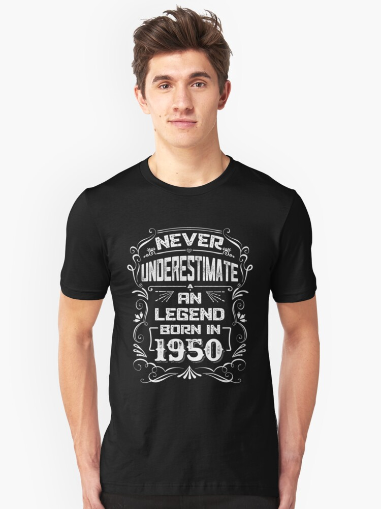 68th Birthday Gift - Legend Born In 1950 T-Shirt Unisex T-Shirt Front