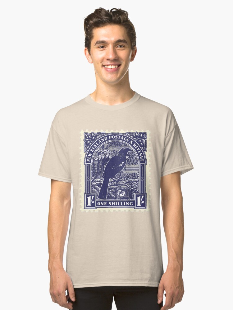Tui - New Zealand stamp Classic T-Shirt Front