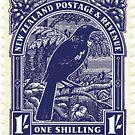 Tui - New Zealand stamp by jennyjeffries