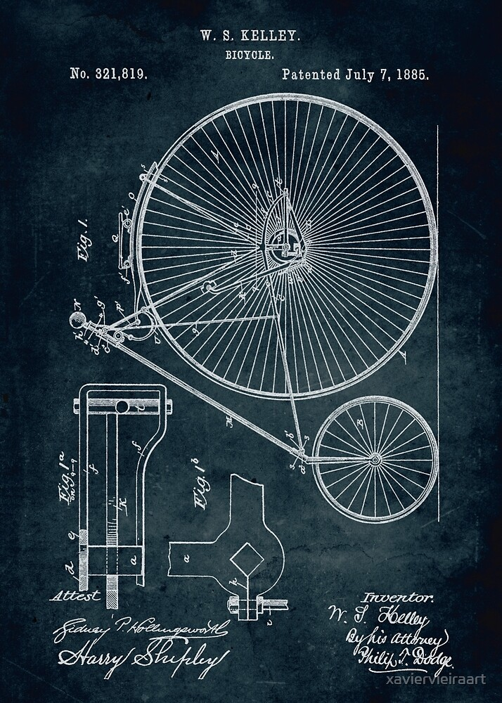 Bicycle patent by xaviervieiraart