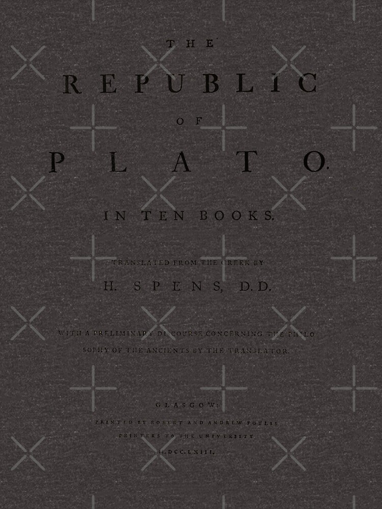 The Republic of Plato Title Page by buythebook86