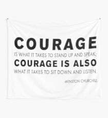 Winston Churchill - Courage quote Wall Tapestry