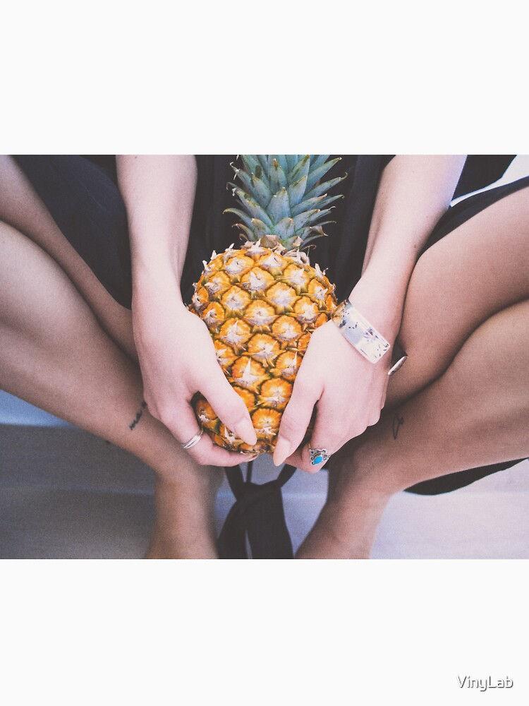 Girl holding pineapple  by VinyLab