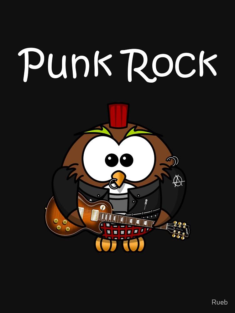 Punk Rock Owl Owl by Rueb