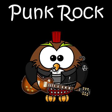 Punk Rock Owl Owl by Rueb