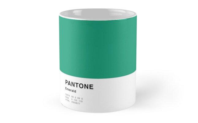 Emerald Green Pantone Simple Design by MightyOwlDesign