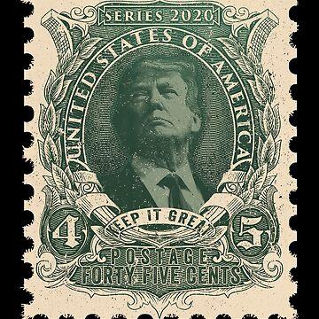 Trump 2020 Vintage Postage Stamp  by javaneka