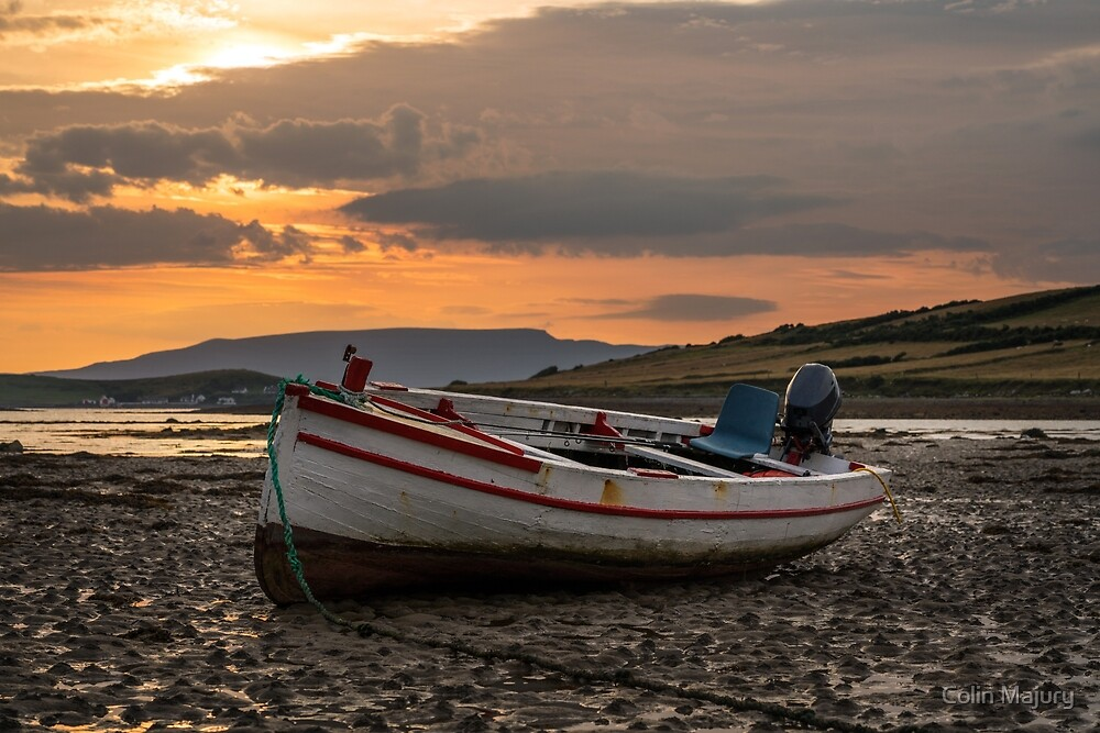 A fishing boat sunset by Colin Majury