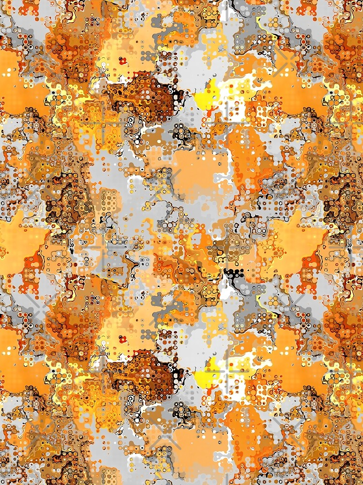 Golden Hues Abstract by perkinsdesigns