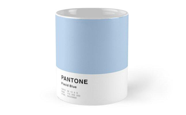 Placid Blue Pantone Simple Design by MightyOwlDesign