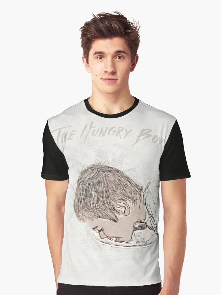 The Hungry Boy Graphic T-Shirt Front