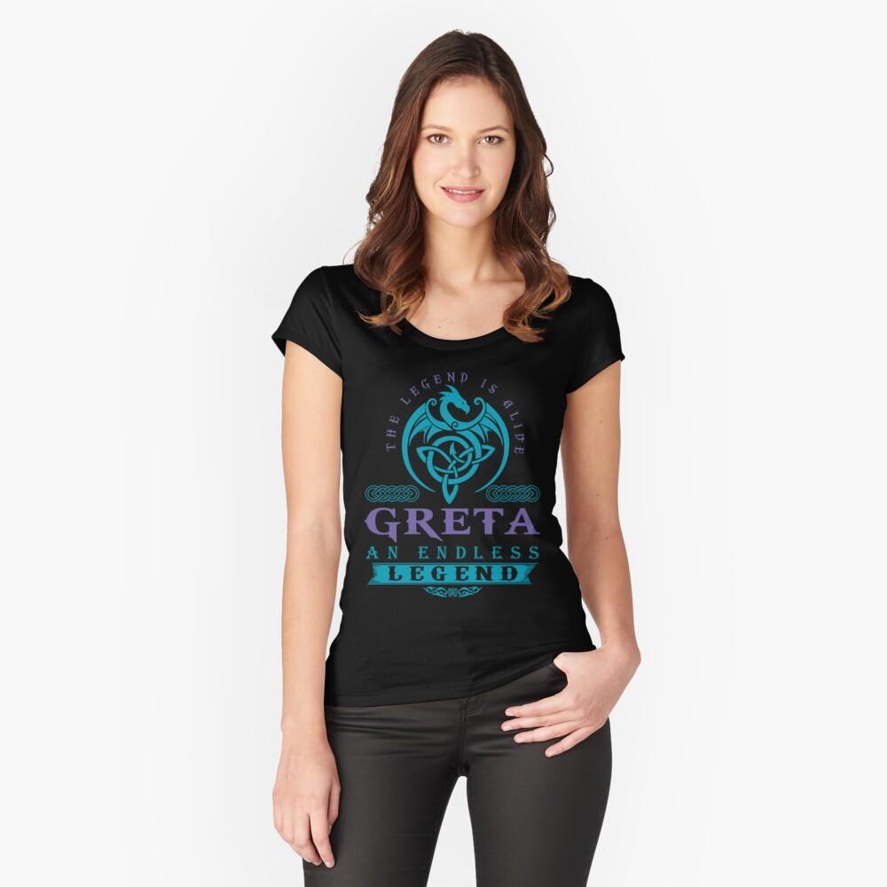 Legend T-shirt - Legend Shirt - Legend Tee - GRETA An Endless Legend Fitted Scoop T-Shirt
