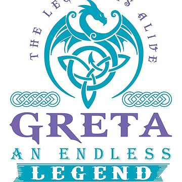 Legend T-shirt - Legend Shirt - Legend Tee - GRETA An Endless Legend by wantneedlove