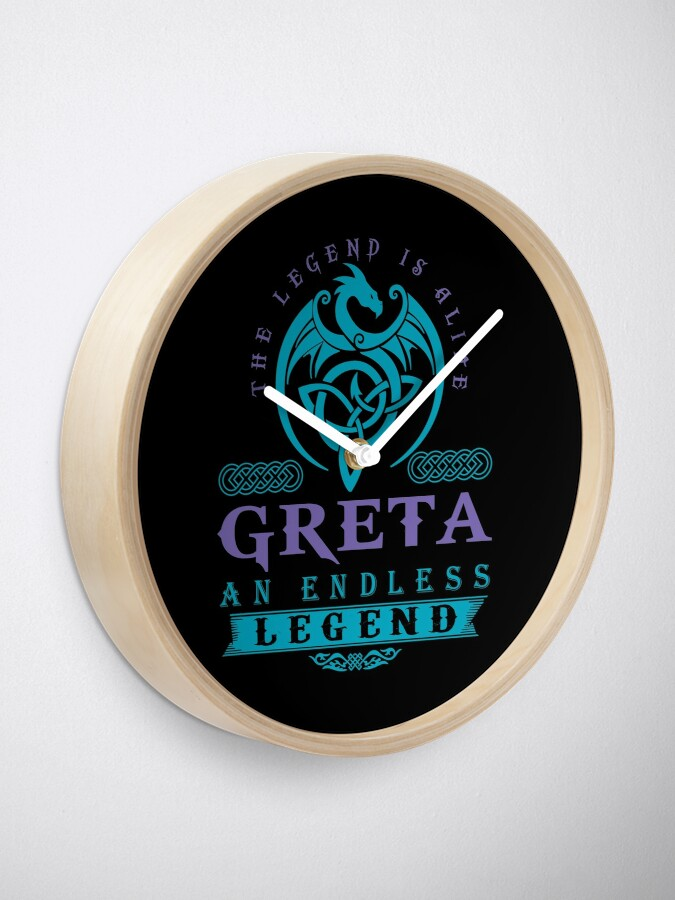 Alternate view of Legend T-shirt - Legend Shirt - Legend Tee - GRETA An Endless Legend Clock