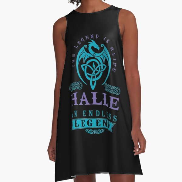 Legend T-shirt - Legend Shirt - Legend Tee - HALLE An Endless Legend A-Line Dress