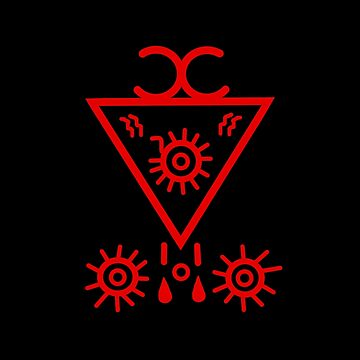 Seal of Lucifer - Red by JayBlackstone