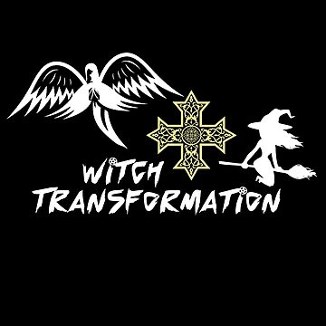 Witch transformation to Angel, Halloween T Shirt by MDAM