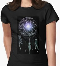 Mooncatcher - Original Dreamcatcher Mandala Women's Fitted T-Shirt