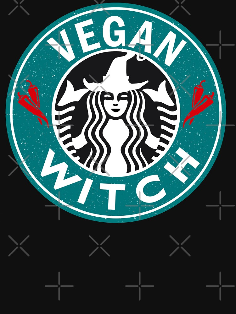 Vegan Witch Shirt Funny Vegan Halloween Gift by LuckyU-Design